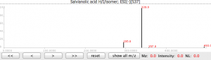 丹酚酸H的二级质谱图